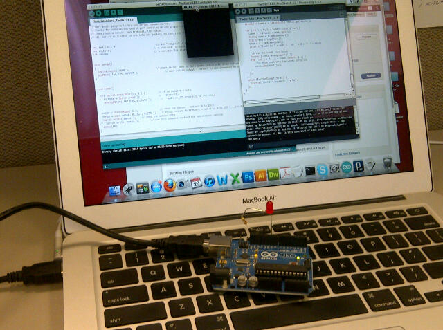 Twitter to arduino hack theskonkworks